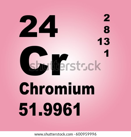 Chromium Periodic Table Elements Stock Illustration 600959996