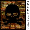 Chronic diseases in word collage - stock photo