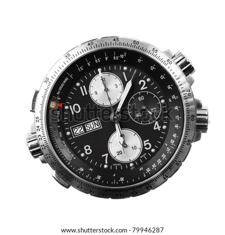 chronograph isolated on white - stock photo