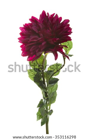 chrysanthemum artificial flower isolated on a white background - stock photo