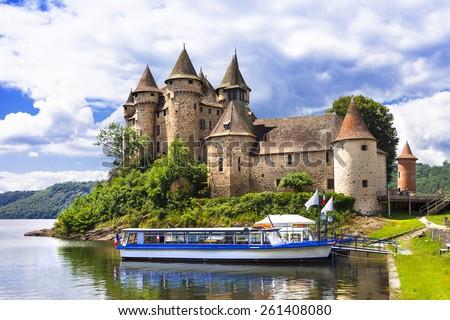 Chteau de Val - impressive medieval castles of France series - stock photo