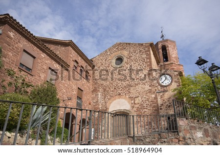 Chuch of Santa Maria in Corbera de LLobregat,catalonia,spain