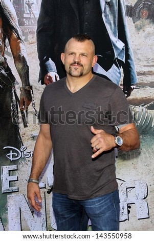 "Chuck Liddell at ""The Lone Ranger"" Premiere, Disney's California Adventure, Anaheim, CA 06-22-13"
