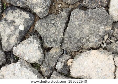 chunks of asphalt - stock photo