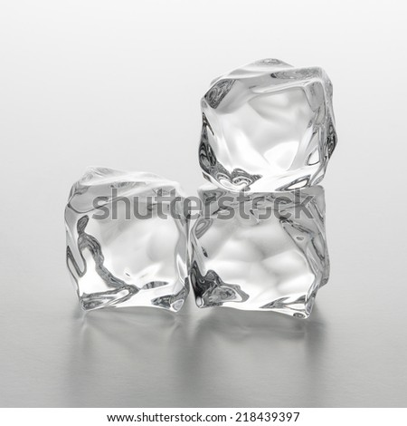chunks of clear ice cubes