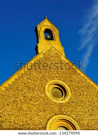 church and bell - stock photo
