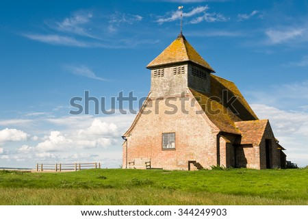 Church at Fairfield on Romney Marsh, UK