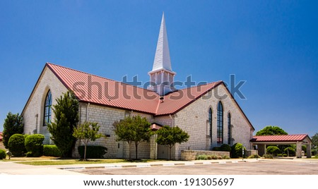 Church at Salado, Texas, USA.