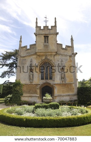 Church at Sudely castle where the last wife of Henry VIII, Katherine Parr is  buried - stock photo