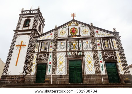 Church building in Azores Islands, Portugal - stock photo