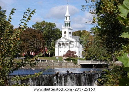 Church by the Pond