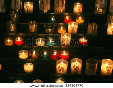 Church candles - stock photo