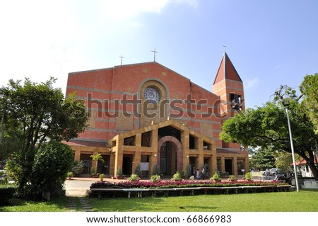 Church Exterior Cathedral Sacred Heart College. Church A Religious  Ceremony.Chiang Mai, Thailand