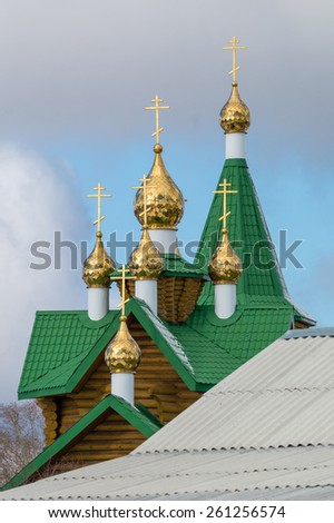 "CHURCH FOR THE SAKE OF the ICON of DIVINE MOTHER ""Affection"", Asbestos, Russia - stock photo"