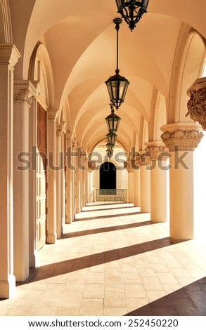 Church Hallway - stock photo