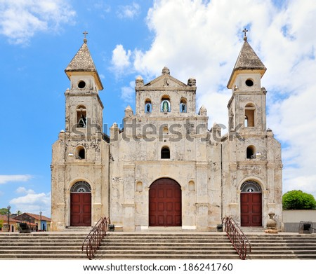 Church Iglesia de Guadalupe, constructed in 1624 by Benedictine monks and reconstructed in 1965 - stock photo