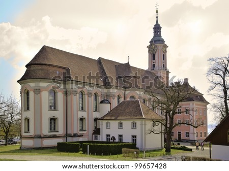 Church in Birnau at the Lake Constance - stock photo