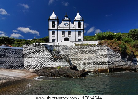 Church in Calheta de Nesquim (Pico Island, Azores Islands) - stock photo