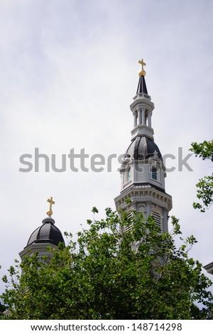 church in downtown Sacramento, California - stock photo