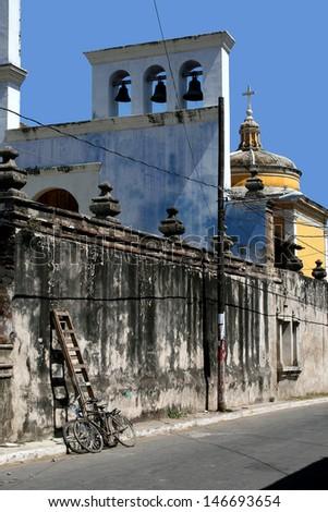 Church in Granada, Nicaragua - stock photo