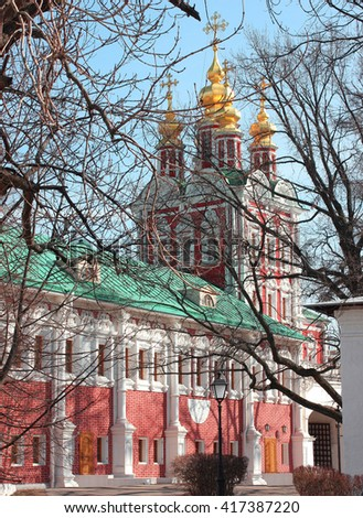 Church in Novodevichy convent in Moscow