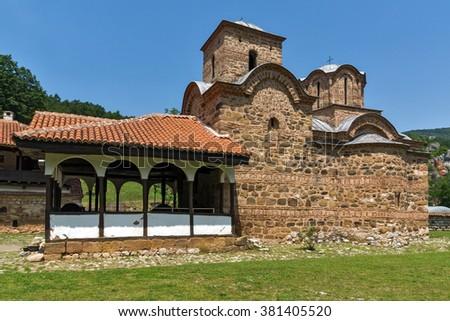 Church in Poganovo Monastery of St. John the Theologian, Serbia - stock photo