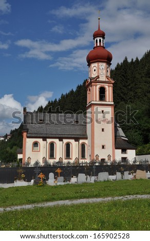 Church in Sellrain, Austria