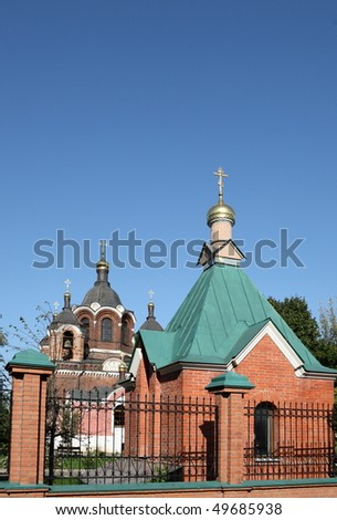 church in the daytime on sky background