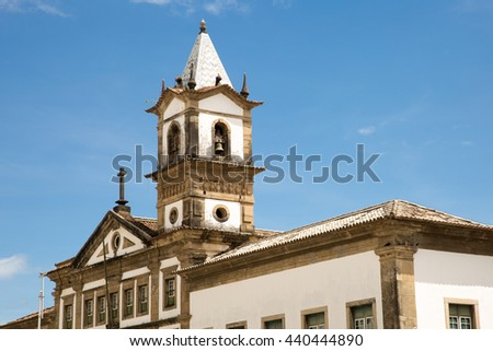 Church in the historic center of Pelourinho, Bahia, Brazil - stock photo