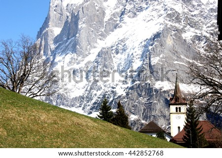 church in the montains of Switzerland