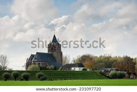 church in the netherlands - stock photo
