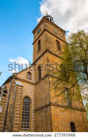 Church in the Old town of Gorlar, Lower Saxony, Germany. Old town of Goslar is a UNESCO World Heritage - stock photo