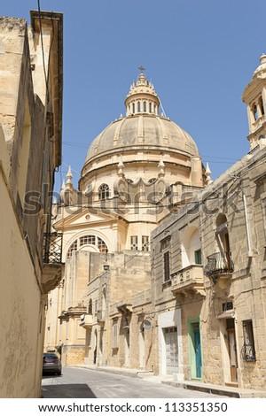 Church in Xewkija, Gozo, Malta - stock photo