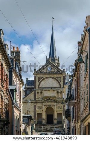 church Notre Dame in Trouvelle-sur-mer city center, France