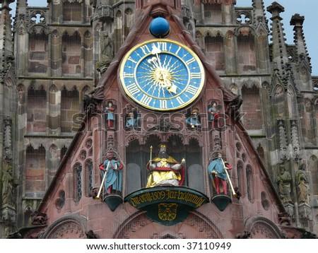church nuernberg - stock photo