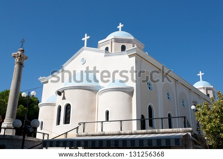 Church of Agia Paraskevi, Kos Town, Dodecanese - stock photo