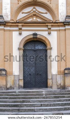 Church of Annunciation in Olomouc Region of Czech Republic. - stock photo
