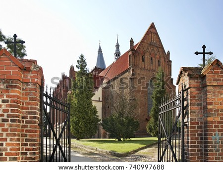 Church of Assumption of  Virgin Mary in Chelmno. Poland