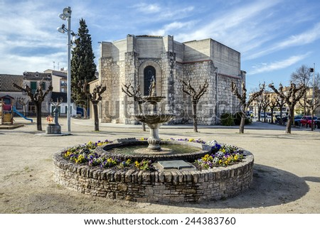 Church of Avinyonet del Penedes, Barcelona. Spain - stock photo