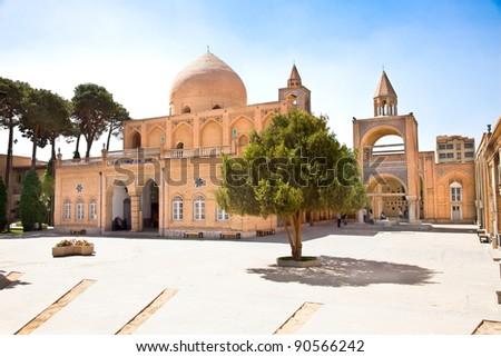 Church of Beit-ol Lahm (Bethlehem) in Esfahan, Iran. - stock photo
