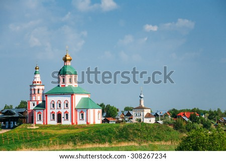 Church of Elijah the Prophet (Elias Church) - church in Suzdal, Russia. Built in 1744. Golden Ring of Russia - stock photo