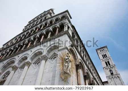 Church of Lucca - stock photo