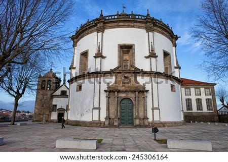 Church of Monastery of Serra do Pilar in Vila Nova de Gaia, municipality in Porto District, Portugal. - stock photo