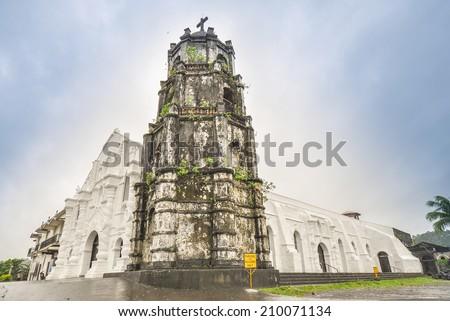 Church of Nuestra Senora de la Porteria (Our Lady of the Gate) - Daraga, Albay, Philippines - stock photo