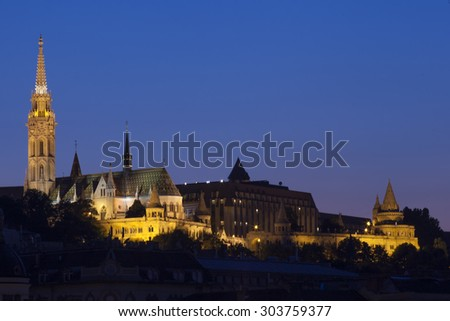 Church of our lady in budapest / panorama of budapest