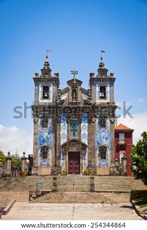 Church of Saint Ildefonso (Igreja de Santo Ildefonso) in Porto, Portugal - stock photo