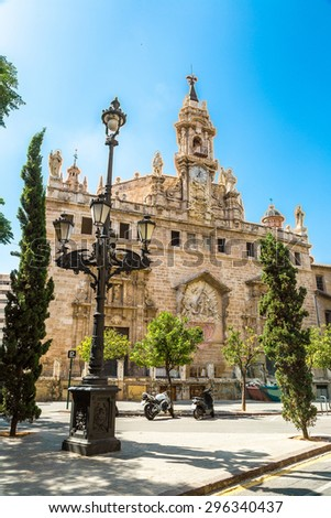 Church of Saint Johns in Valencia, Spain in a summer day