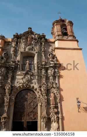 Church of San Diego, Guanajuato (Mexico) - stock photo