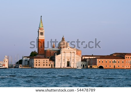 Church of San Giorgio Maggiore, Venice, Italy - stock photo