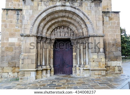 Church of San Juan de Rabanera, Castilian Romanesque monument that the city of Soria, Spain